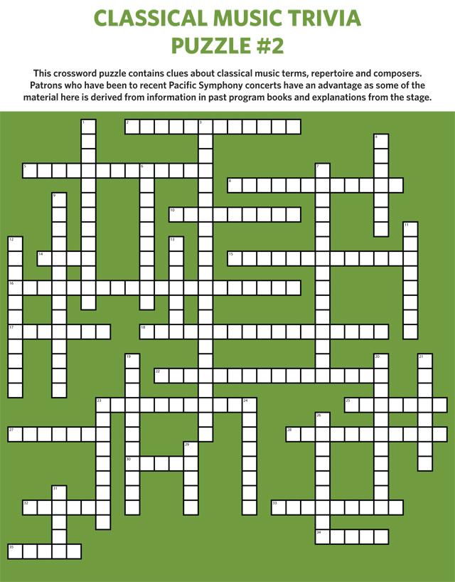 Opera or symphony crossword