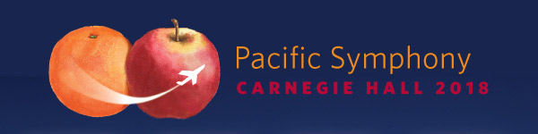 Pacific Symphony Carnegie Hall 2018