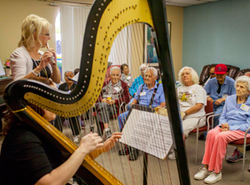 Pacific Symphony musicians perform at a senior center