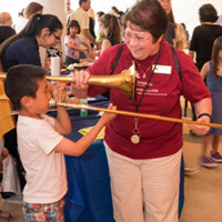 Instrument Petting Zoo at the Musical Carnival