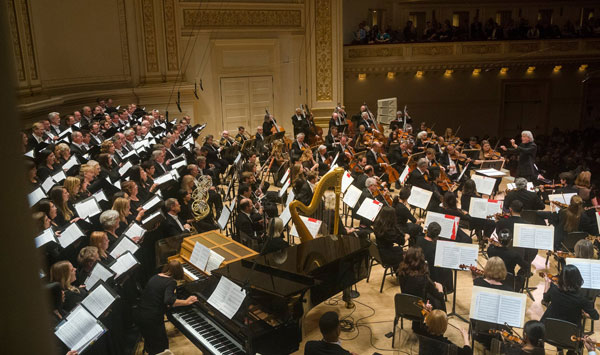 Pacific Symphony on stage at Carnegie Hall
