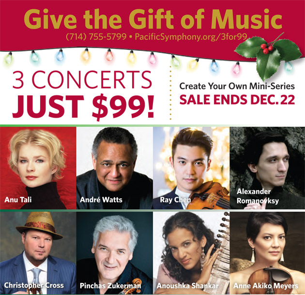 Give the Gift of Music: 3 Concerts for $99
