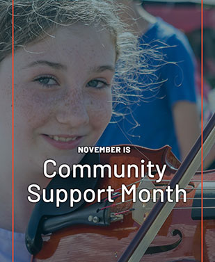 November is Community Support Month