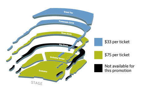 Seating map 3 for $99